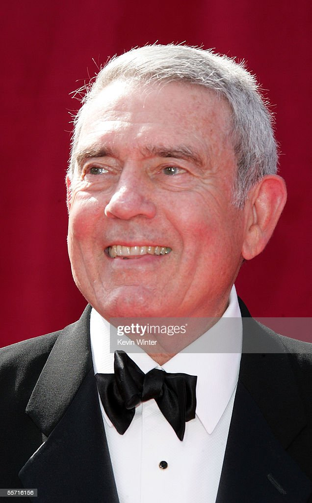 Television Reporter Dan Rather arrives at the 57th Annual Emmy Awards held at the Shrine Auditorium on September 18, 2005 in Los Angeles, California.