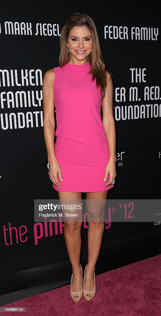 Television reporter Maria Menounos attends Elyse Walker Presents The Eighth Annual Pink Party Hosted By Michelle Pfeiffer To Benefit Cedars-Sinai Women's Cancer Program at Barkar Hangar Santa Monica Airport on October 27, 2012 in Santa Monica, California.