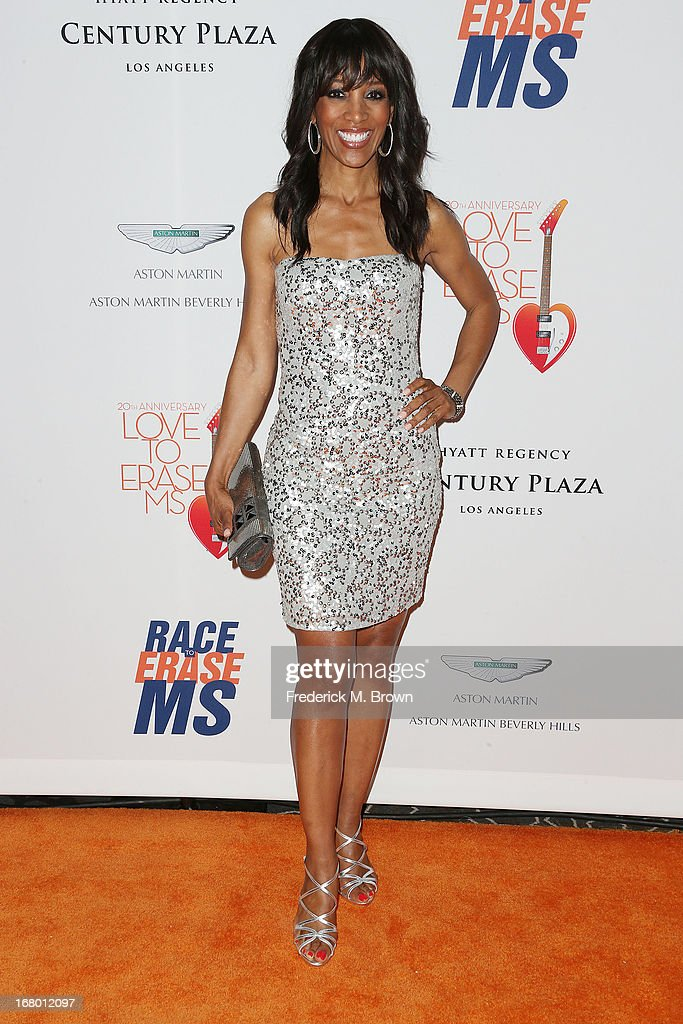 Television reporter Shaun Robinson attends the 20th Annual Race to Erase MS Gala 'Love to Erase MS' at the Hyatt Regency Century Plaza on May 3, 2013 in Century City, California.