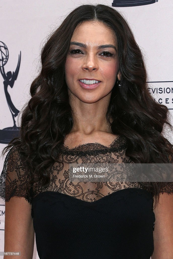 Television reporter <a gi-track='captionPersonalityLinkClicked' href=/galleries/search?phrase=Terri+Seymour&family=editorial&specificpeople=226697 ng-click='$event.stopPropagation()'>Terri Seymour</a> attends the Academy of Television Arts & Sciences' Presents an Evening with Michael Buble at the Wadsworth Theater on April 28, 2013 in Los Angeles, California.