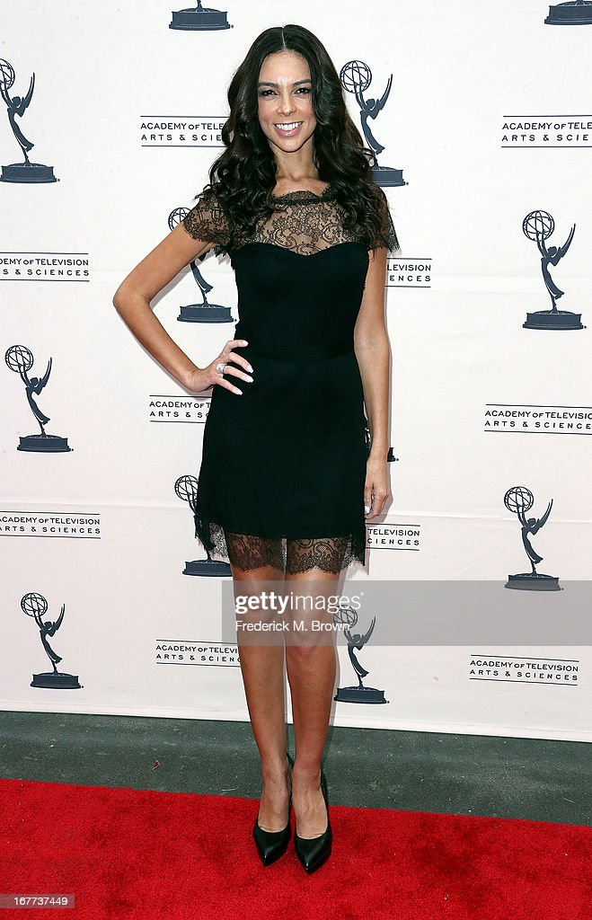 Television reporter Terri Seymour attends the Academy of Television Arts & Sciences' Presents an Evening with Michael Buble at the Wadsworth Theater on April 28, 2013 in Los Angeles, California.