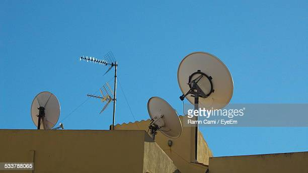 Television Satellites Dish On Roof