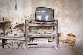 Television Set In Abandoned House