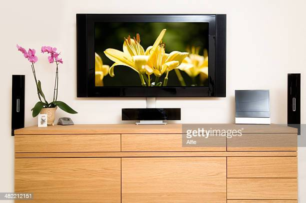Television set in living room