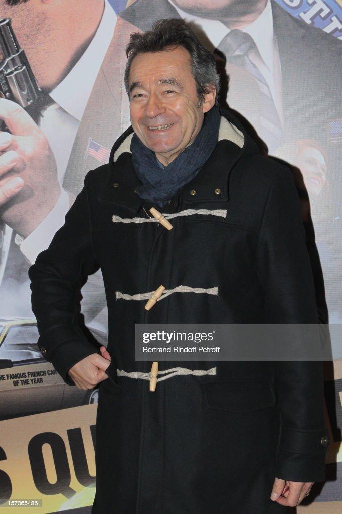 Television show host Michel Denisot attends the Paris Premiere of the movie 'Mais Qui A Re Tue Pamela Rose', at Cinema Gaumont Marignan on December 2, 2012 in Paris, France.