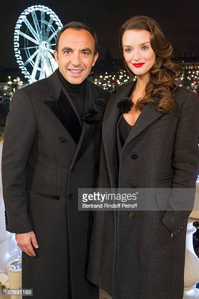 Television show host Nikos Aliagas and television show host and actress Charlotte Le Bon attend the shooting of the year end program 'Toute la...