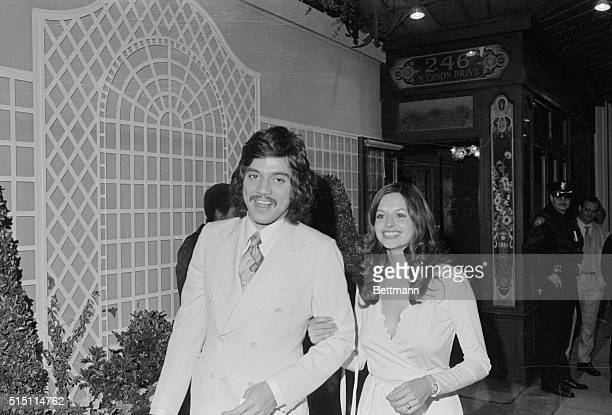 Television star Freddie Prinze and his wife leave May 6 after attending a 'friend raising party' for President Ford Prinze was one of a dozen or so...