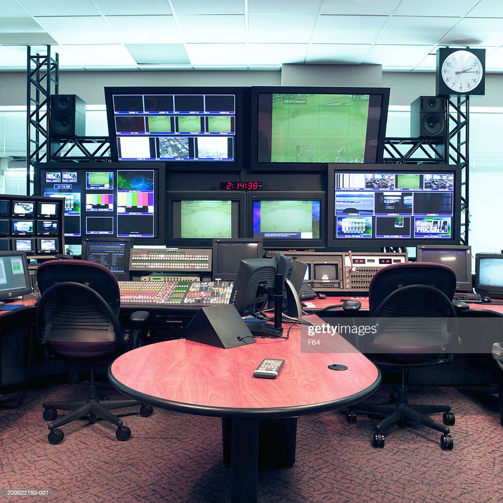 Tv Studio Control Room Stock Photo Getty Images