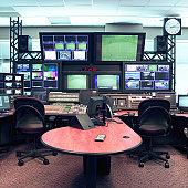 Television studio control room