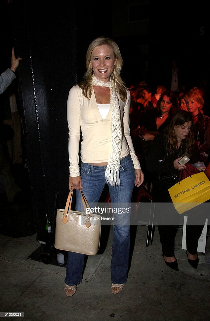 Television Weather Girl Sami Lukis at the Easton Pearson show during Mercedes Australia Fashion Week 2003 May 6 2003 in Sydney Australia