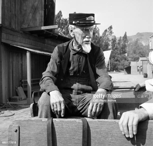 CBS television western Frontier Circus episode Journey From Hannibal Pictured is Clem Bevans Image dated June 27 1961