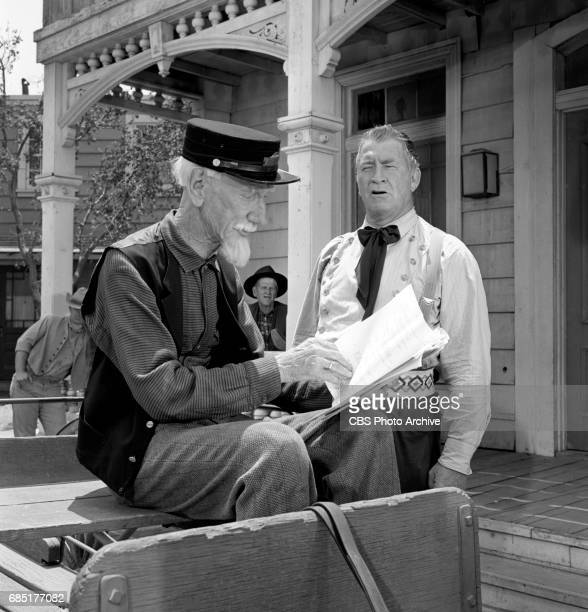 CBS television western Frontier Circus episode Journey From Hannibal Pictured from left is Clem Bevans and Chill Wills Image dated June 27 1961