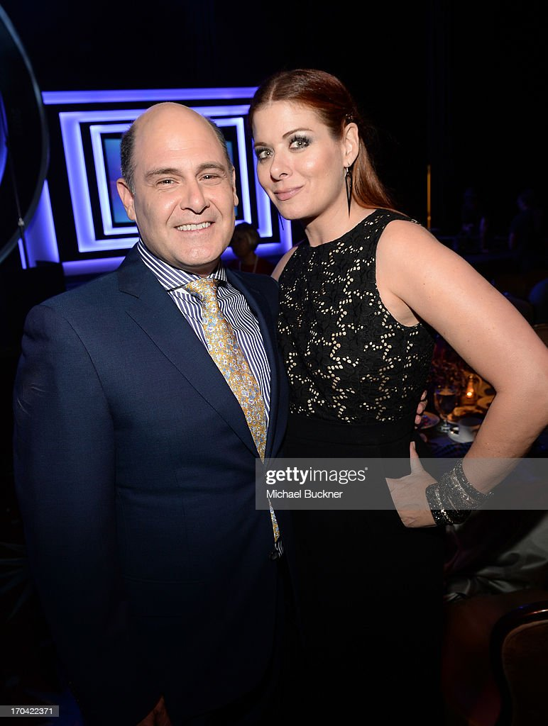 Television writer <a gi-track='captionPersonalityLinkClicked' href=/galleries/search?phrase=Matthew+Weiner&family=editorial&specificpeople=4148376 ng-click='$event.stopPropagation()'>Matthew Weiner</a> (L) and actress <a gi-track='captionPersonalityLinkClicked' href=/galleries/search?phrase=Debra+Messing&family=editorial&specificpeople=202114 ng-click='$event.stopPropagation()'>Debra Messing</a> attend Women In Film's 2013 Crystal + Lucy Awards at The Beverly Hilton Hotel on June 12, 2013 in Beverly Hills, California.