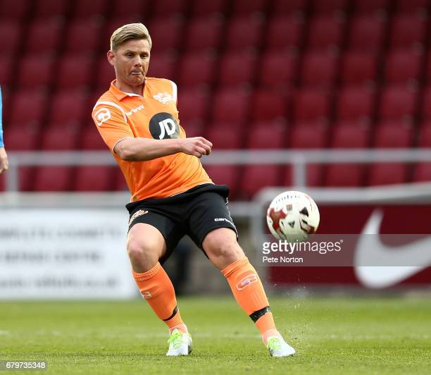 Televison Presenter Jeff Brazier in action during a Help for Heroes game between an RAF XI and a Celebrity XI at Sixfields on May 5 2017 in...