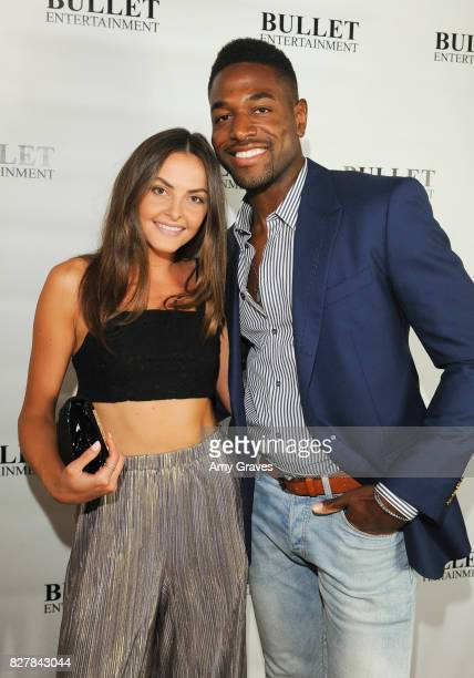 Telise Galanis and Horace Dodd attend Wendy Benge's Launch of Film Studio Bullet Studios on August 5 2017 in Los Angeles California