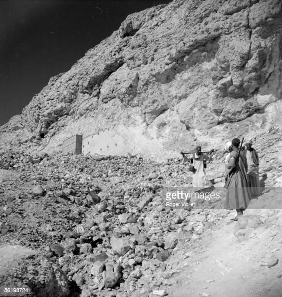 Tell el Amarna Akhenaton city necropolis The tomb of Ahmos number 3 1954