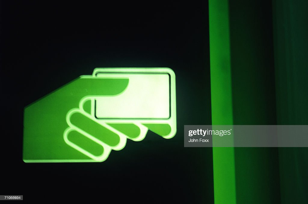 teller machine sign : Stock Photo
