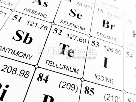 Tellurium On The Periodic Table Of The Elements Stock Photo Thinkstock