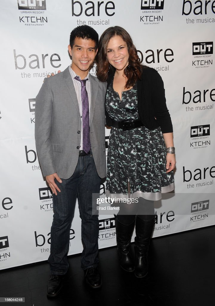 Telly Leung and Singer Lindsay Mendez attends 'BARE The Musical' Opening Night at New World Stages on December 9, 2012 in New York City.