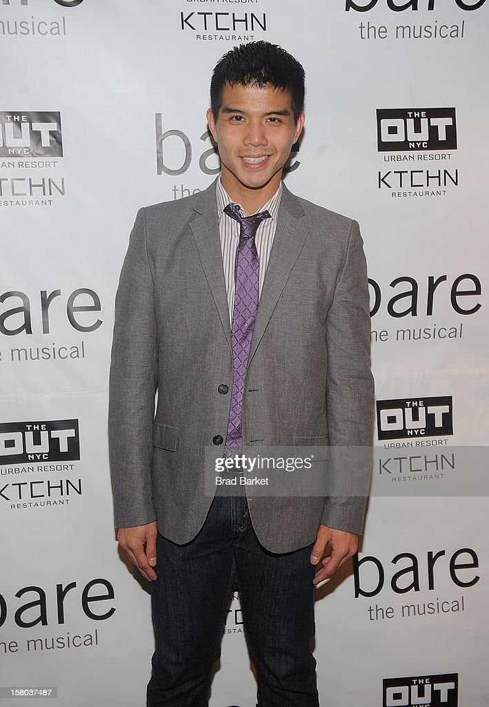 <a gi-track='captionPersonalityLinkClicked' href=/galleries/search?phrase=Telly+Leung&family=editorial&specificpeople=706226 ng-click='$event.stopPropagation()'>Telly Leung</a> attends 'BARE The Musical' Opening Night at New World Stages on December 9, 2012 in New York City.