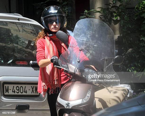 Telma Ortiz sister of Princess letizia of Spain is seen on June 13 2014 in Barcelona Spain
