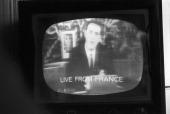 Telstar Satellite In Andover Andover 13 Juillet 1962 Le satellite TELSTAR transmetteur d'images télévisées à travers l'Atlantique un écran recevant...