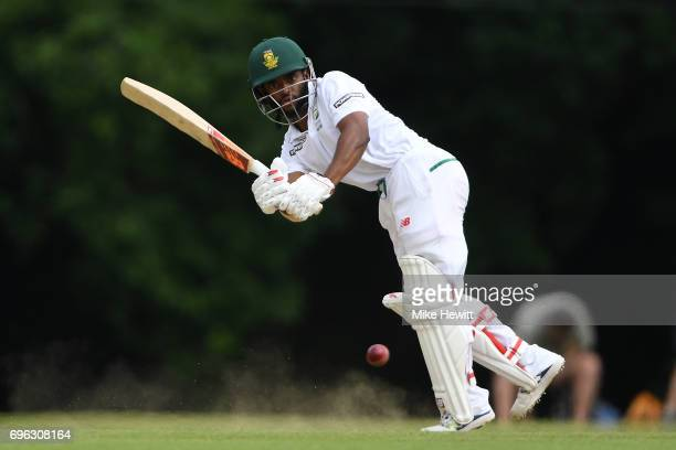Temba Bavuma of South Africa A in action during a Tour Match between Sussex and South Africa A at Arundel Castle on June 15 2017 in Arundel England