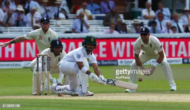 Temba Bavuma of South Africa during 1st Investec Test Match between England and South Africa at Lord's Cricket Ground in London on July 07 2017