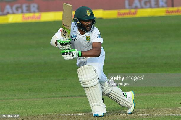 Temba Bavuma of the Proteas during day 1 of the 1st Sunfoil International Test match between South Africa and New Zealand at Sahara Stadium Kingsmead...