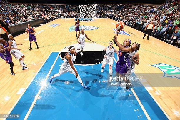 Temeka Johnson of the of the Phoenix Mercury takes a shot against the Minnesota Lynx in Game One of the Western Conference Finals during the 2011...