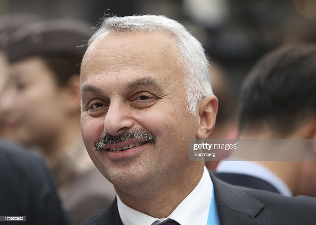 Temel Kotil, chief executive officer of Turkish Airlines, attends an awards ceremony on the second day of the Paris Air Show in Paris, France, on Tuesday, June 18, 2013. The 50th International Paris Air Show is the world's largest aviation and space industry show, and takes place at Le Bourget airport June 17-23. Photographer: Chris Ratcliffe/Bloomberg via Getty Images