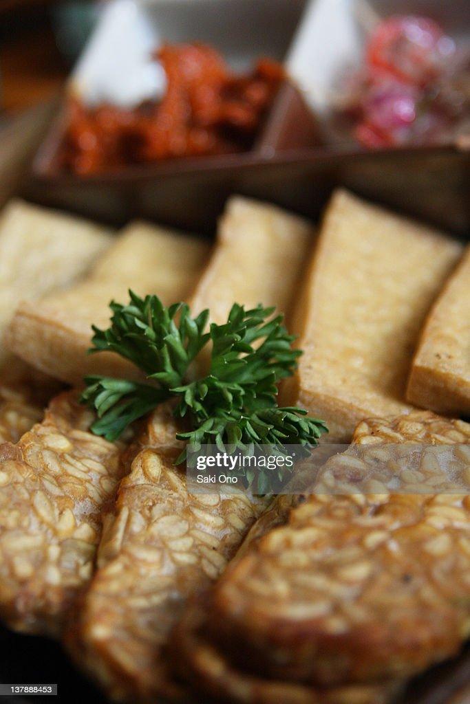Tempe and tofu : Stock Photo