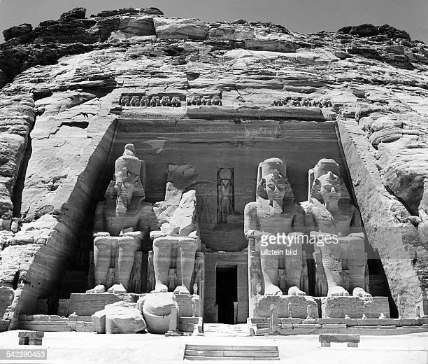 Tempel von Abu Simbel 1960er Jahre