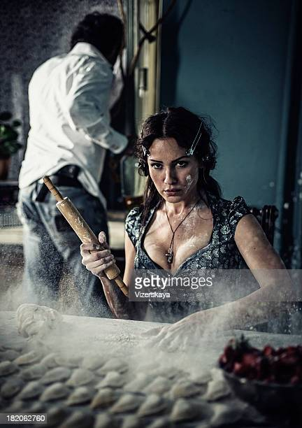 Italienische Frau temperament