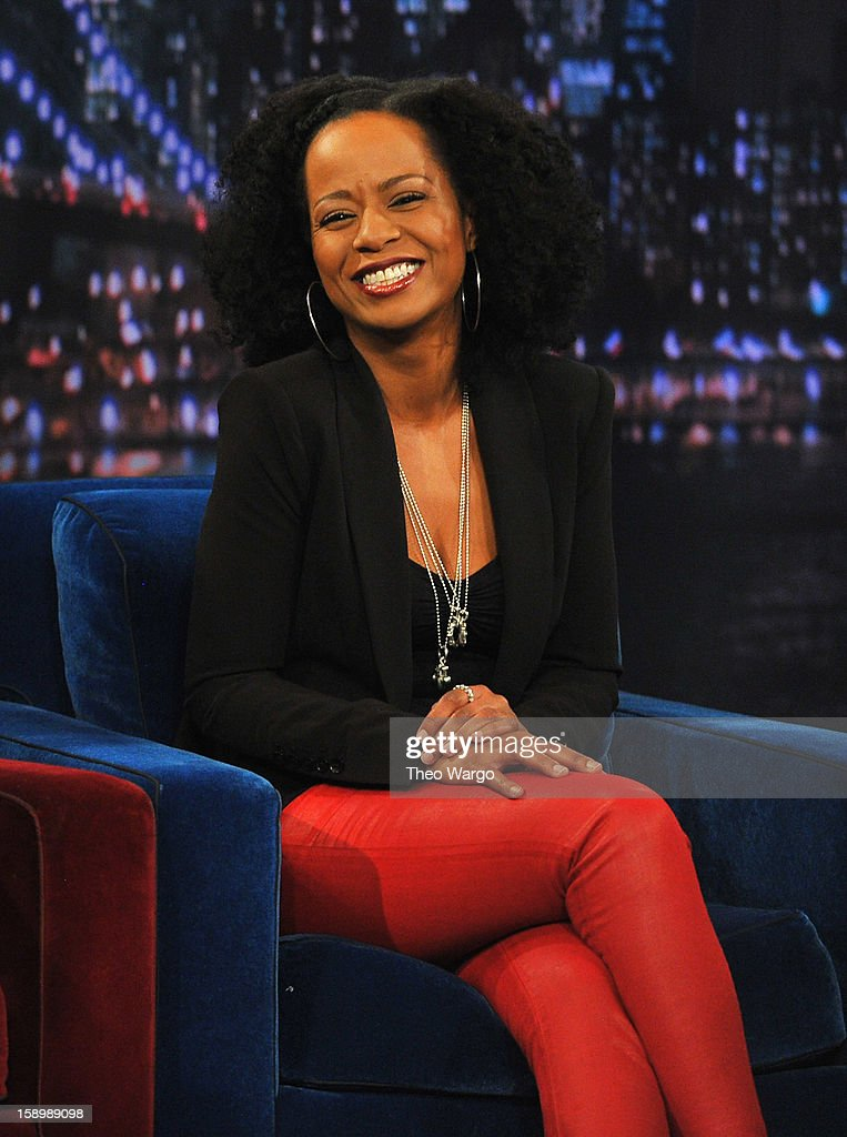 Tempestt Bledsoe visits 'Late Night With Jimmy Fallon' at Rockefeller Center on January 4, 2013 in New York City.