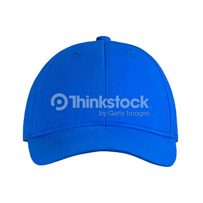 template for your design blank blue baseball cap isolated on white