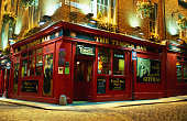Temple Bar pub at night.