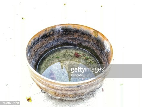 Temple in Bowl Reflections : Stock Photo