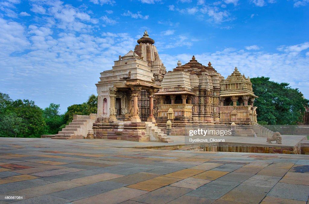 Temple in Khajuraho. Madhya Pradesh, India : Stock Photo