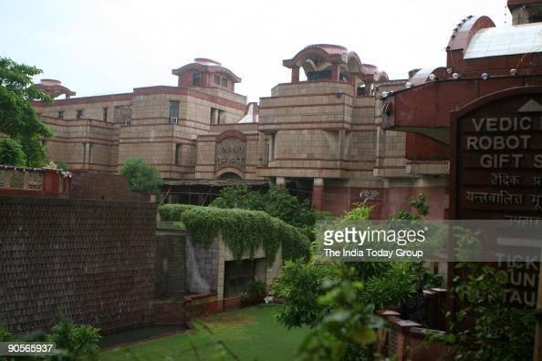 ISKCON temple in New Delhi before the celebration of Janmasthami