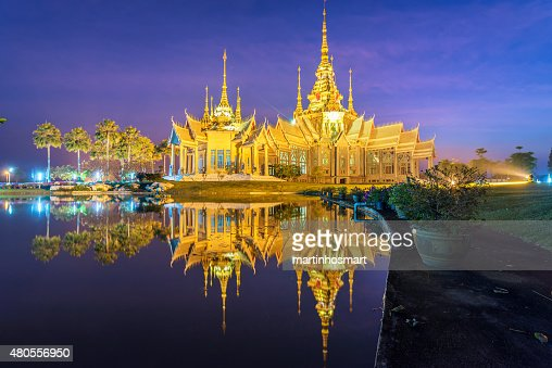 temple in reflection : Stock Photo