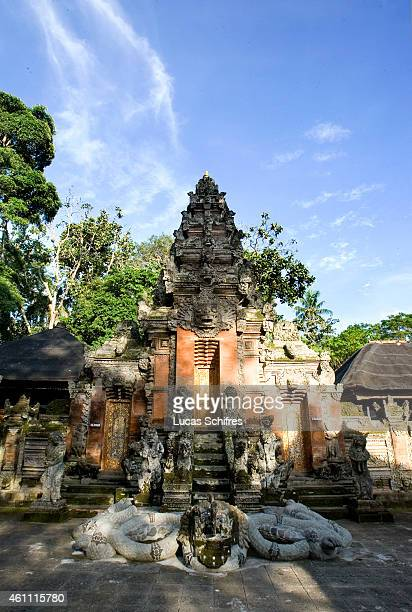 A temple in Ubud Monkey Forest on February 20 2010 in Ubud Central Bali Indonesia