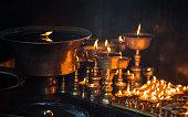 Temple lights at Kathmandu