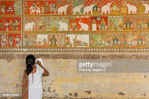 Temple murals of Madurai : Stock Photo