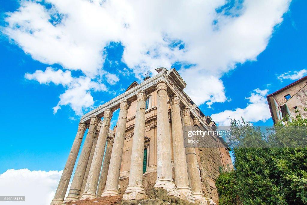 Temple of Antoninus and Faustina, Forum Romanom, Rome, Italy : Stock Photo