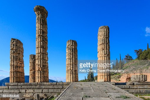 Temple Of Apollo At Delphi Stock Photo  Getty Images