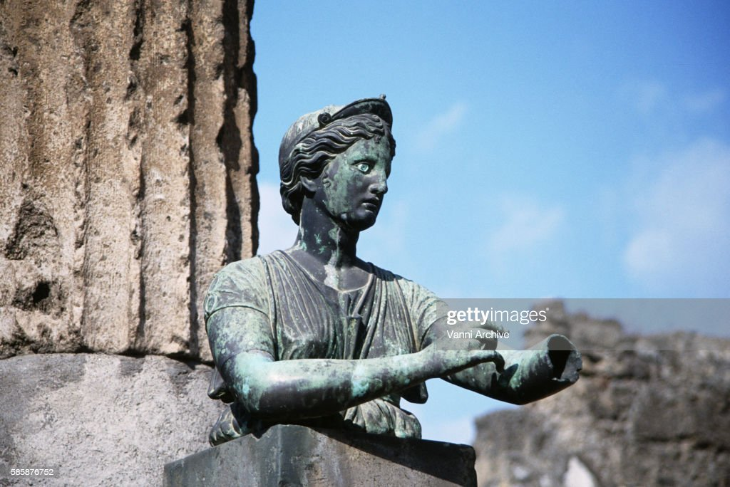 Temple of Apollo in Pompeii: Statue of Diana