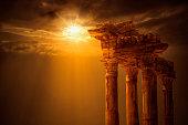 Temple of Apollo on Sunset