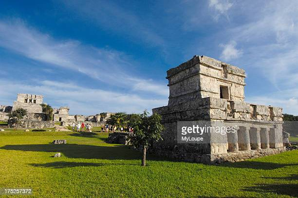 Temple of Frescoes Mayan ruins of Tulum Tulum Quintana Roo state Mayan Riviera Yucatan Peninsula Mexico