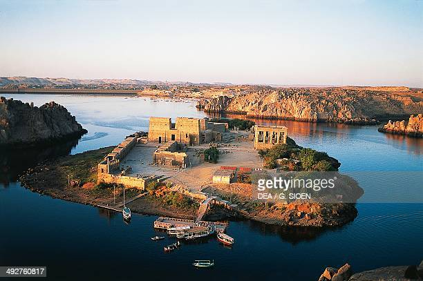 Temple of Isis at Philae Agilkia Island Aswan Egypt Egyptian civilization